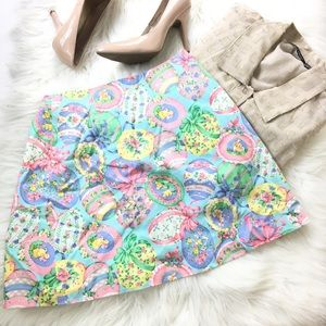 Dresses & Skirts - Easter Eggs Bunnies Pastel Floral Wrap Skirt 26